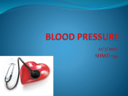 Heart Rate Blood Pressure