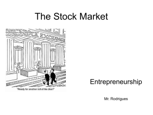 stock market powerpoint notes