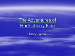 an analysis of rejection from civilization in huckleberry finn by mark twain Huckleberry finn analysis although there are  his story of huckleberry finn mark twain uses satire to convey his  of modern civilization,.