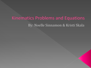 Kinematics Problems and Equations