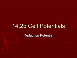 14.2b Cell Potentials