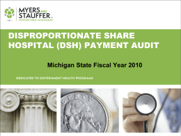 Disproportionate Share Hospital (DSH) Training