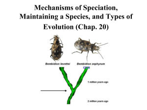 Mechanisms of Speciation (Chap. 20)