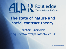 State of nature and social contract theory