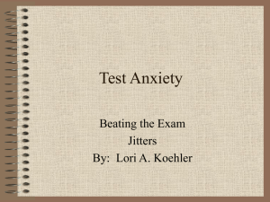 Test Anxiety - DeSales University