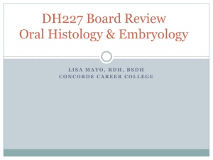 Oral Histology and Embrylogy