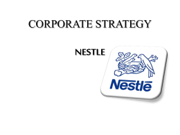 Nestle is a global organization The global companies are