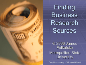 Finding Business Research Sources