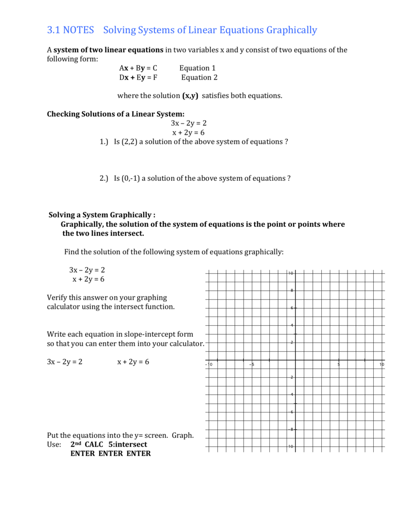 Substitution Linear Combination
