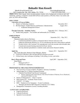 Resume.October13   Bahadir Koseli