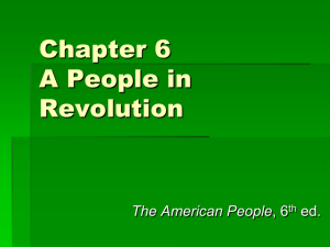 Chapter 6 A People in Revolution