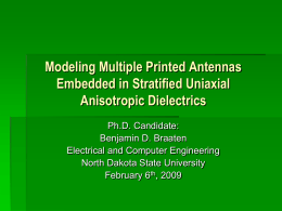 A Printed Rampart-Line Antenna with a Dielectric Superstrate for