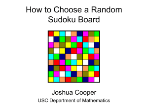 How to Choose a Random Sudoku Board