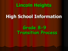 Gr-8-to-9-Transitions - Lincoln Heights Public School