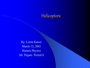 Power Point Presentation on Helicopters