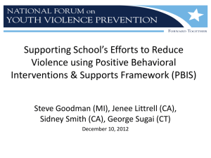 School-wide Positive Behavioral Interventions and Support Sid