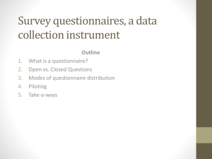 Questionnaires - University of Colorado Boulder