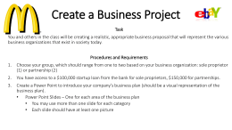 Create a Business Project