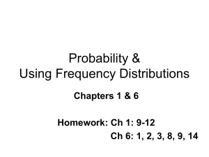 Using Frequency Distributions