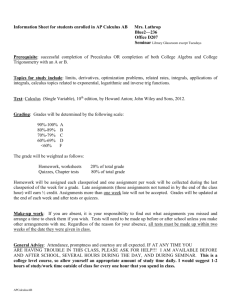 AP CALCULUS AB class syllabus - Geary County Schools USD 475