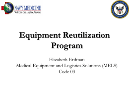 M-L-1330-1430 Equipment Reutilization Program