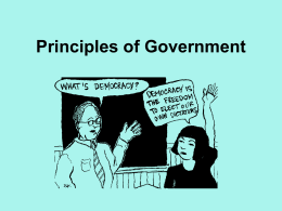 Principles of Government Chapter 1 Notes