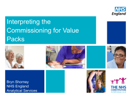 Interpreting the Commissioning for Value Packs
