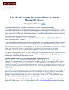 Payroll and HR News and Notes