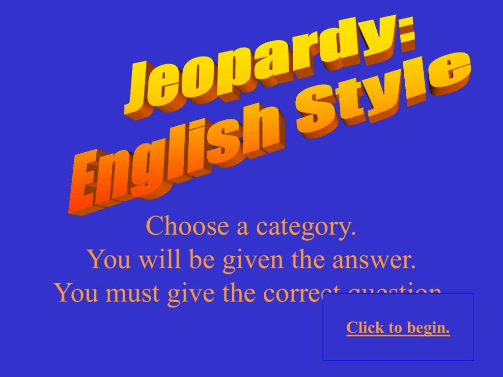 Final jeopardy template