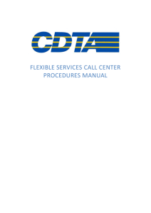 STAR Call Center Procedures Manual