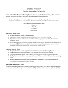 OVERISEL TOWNSHIP Planning Commission Fee Schedule