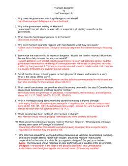 "prompts for short story "" harrison bergeron"" by kurt vonnegut harrison bergeron comprehension questions"