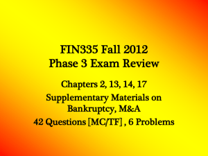 FIN335 Fall 2010 Phase 3 Review