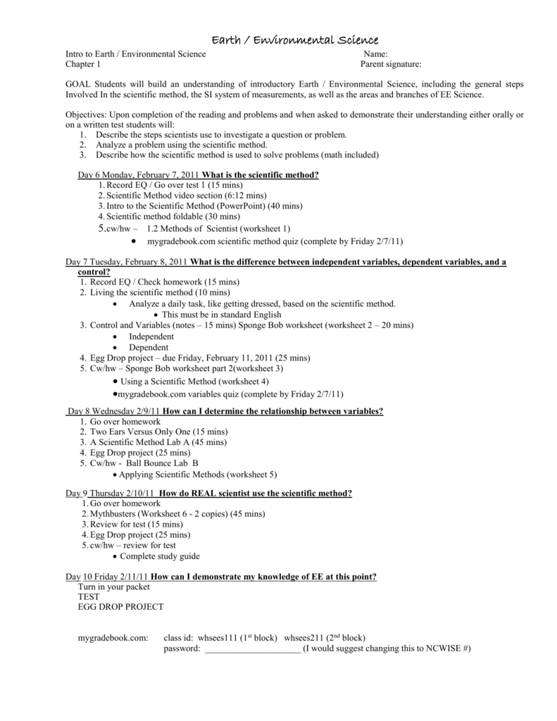 Worksheets Science And The Scientific Method Worksheet file