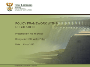 Policy Framework within Regulation