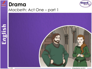 Macbeth Act 1 Part 1