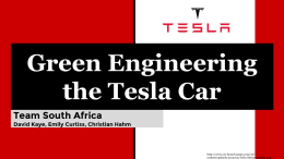 Green Engineering – the Tesla Automobile