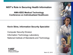 NIST's Role in Securing Health Information - IEEE-USA