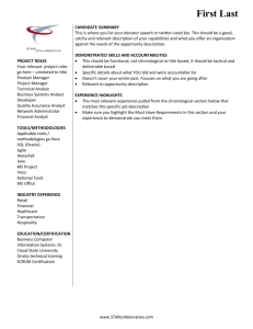 STAR Resume Template