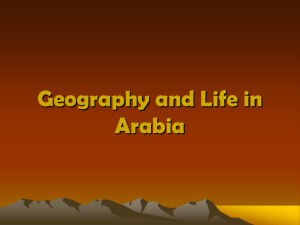Geography and Life in Arabia