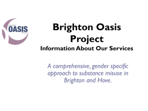 Brighton Oasis Project Information About Our Services