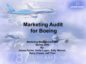 Marketing for Boeing - James S. Parker's Personal Website.