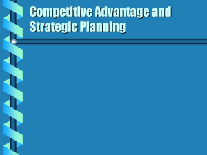 Planning and its sub case strategic planning