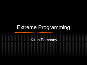 Extreme Programming - Brown University Department of Computer