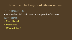 Lesson 2: The Empire of Ghana