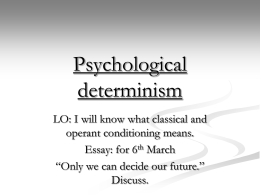 Psychological determinism