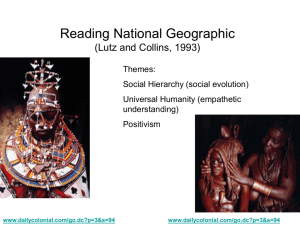 Reading National Geographic (Lutz and Collins, 1993)