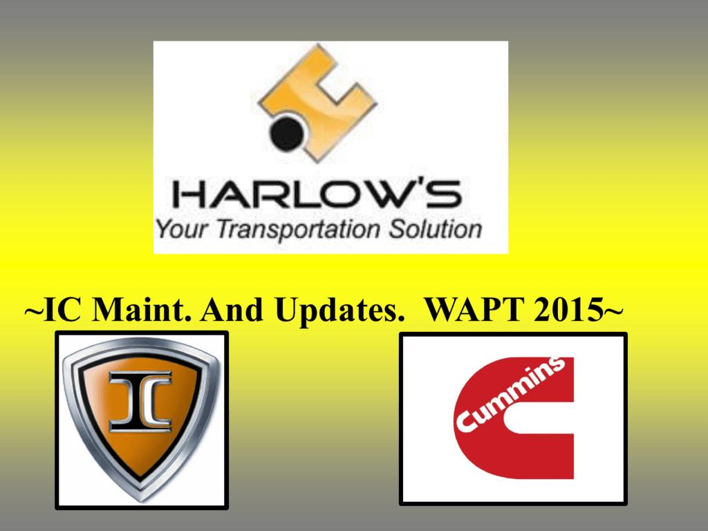 IC Bus Maintenance and Updates