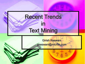 Recent Trends in Text Mining