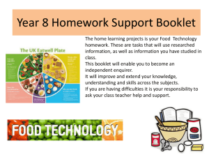 Year 8 Homework Support Booklet
